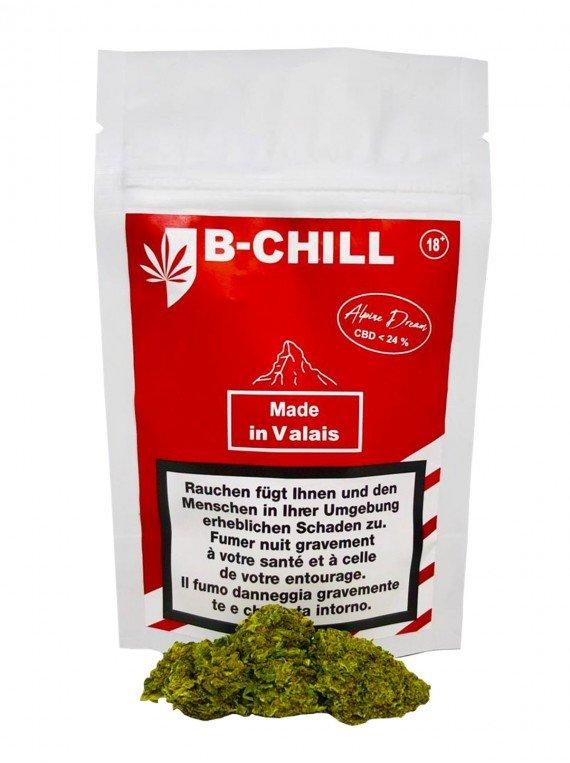 Fleurs de CBD Alpine Dream B CHill packaging