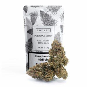 Fleurs de CBD - Pineapple Chunk - CBD420 - packaging