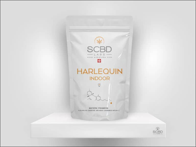 Fleurs de CBD - Harlequin - SCBD Lab packaging
