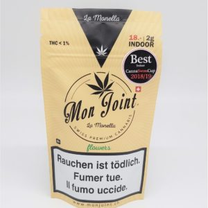 Fleurs de CBD - La Monella 2g CBD Indoor - Mon Joint packaging