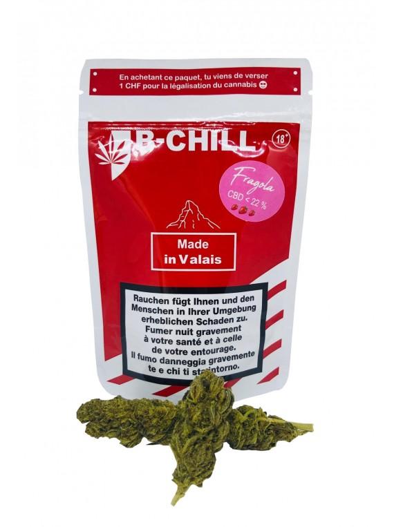 fleurs de CBD Fragola B chill packaging