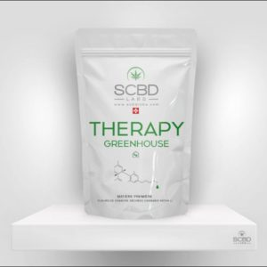Fleurs de CBD - Therapy Greenhouse - SCBD Lab packaging